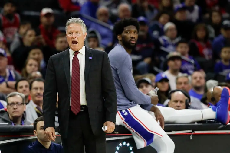Sixers head coach Brett Brown's future in Philadelphia depends on solving the team's chemistry issues when the season restarts on Aug. 1.