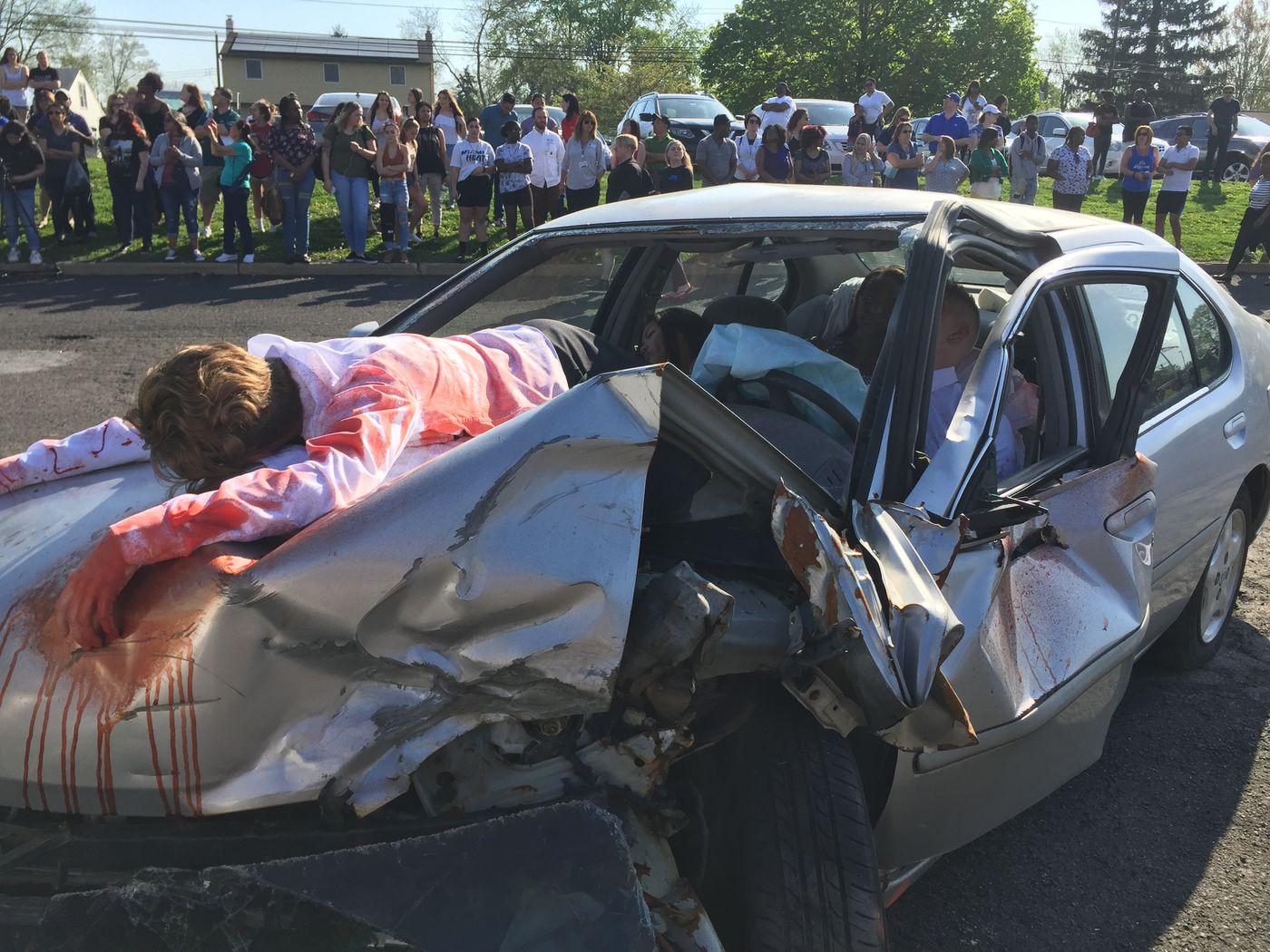 Will mock car crash at Bucks high school keep kids from