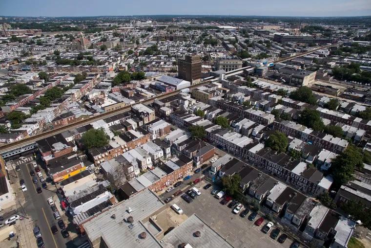 The Kensington section of Philadelphia on Monday. Lower-income neighborhoods in Philadelphia have fewer trees.