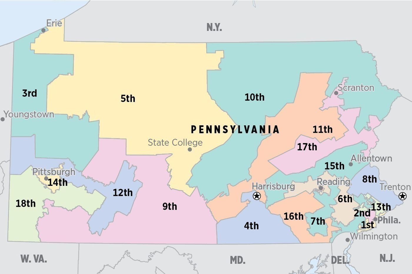 Pennsylvania, gerrymandered: A guide to Pa.'s congressional map redistricting fight