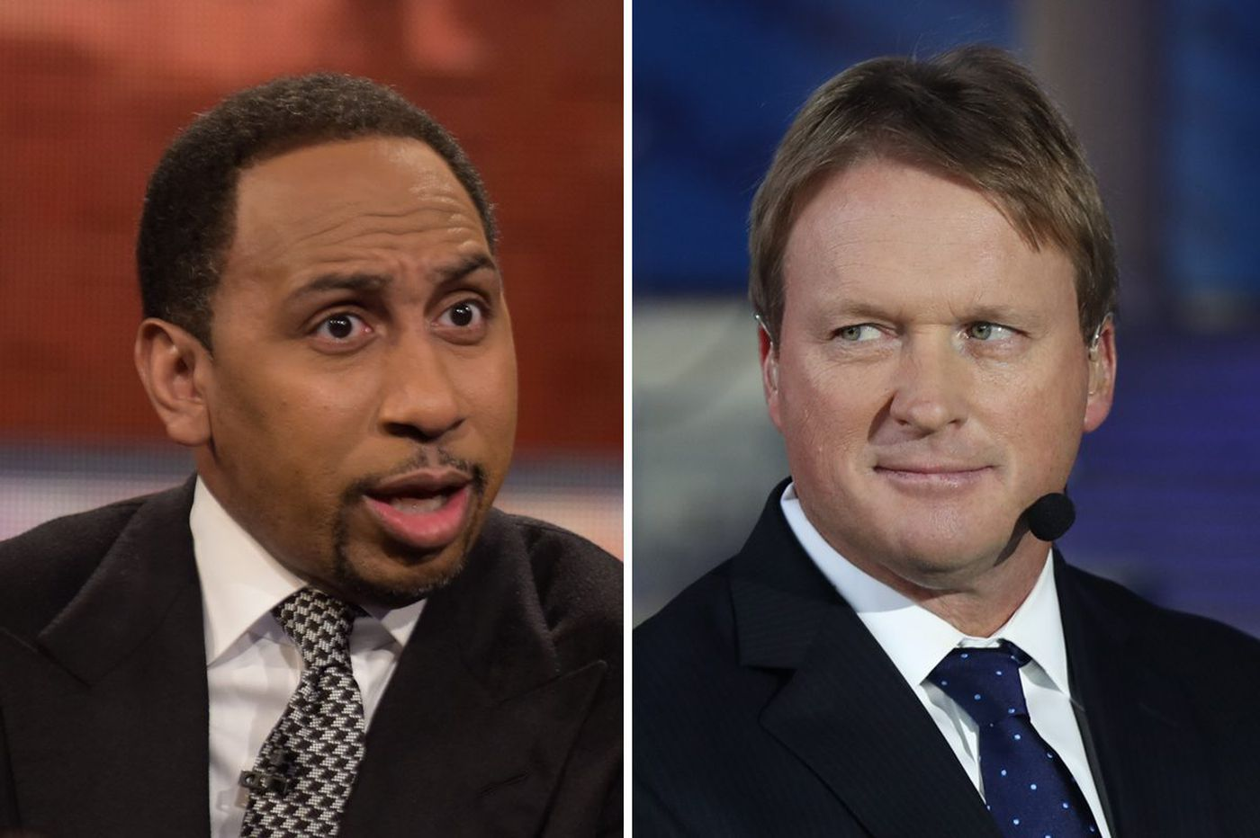 Jon Gruden mocks Stephen A. Smith and ESPN's reporting