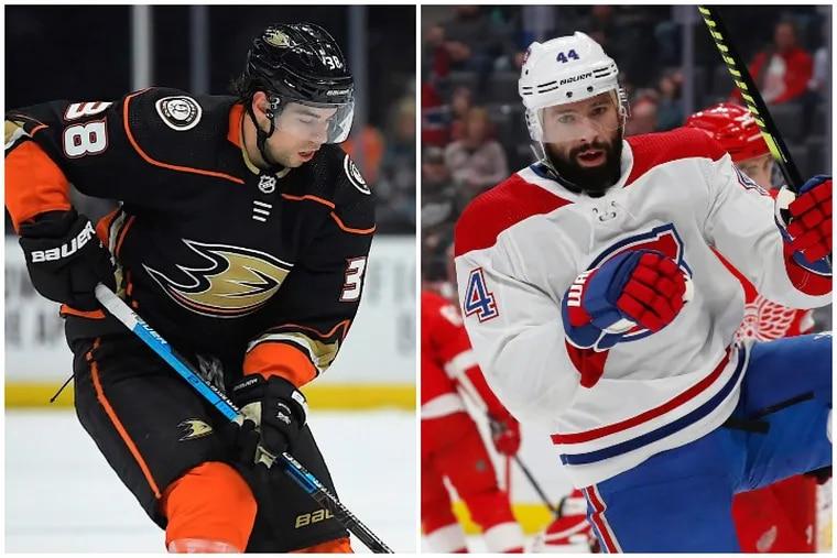 Derek Grant, left, and Nate Thompson should bring the Flyers plenty of needed grit.