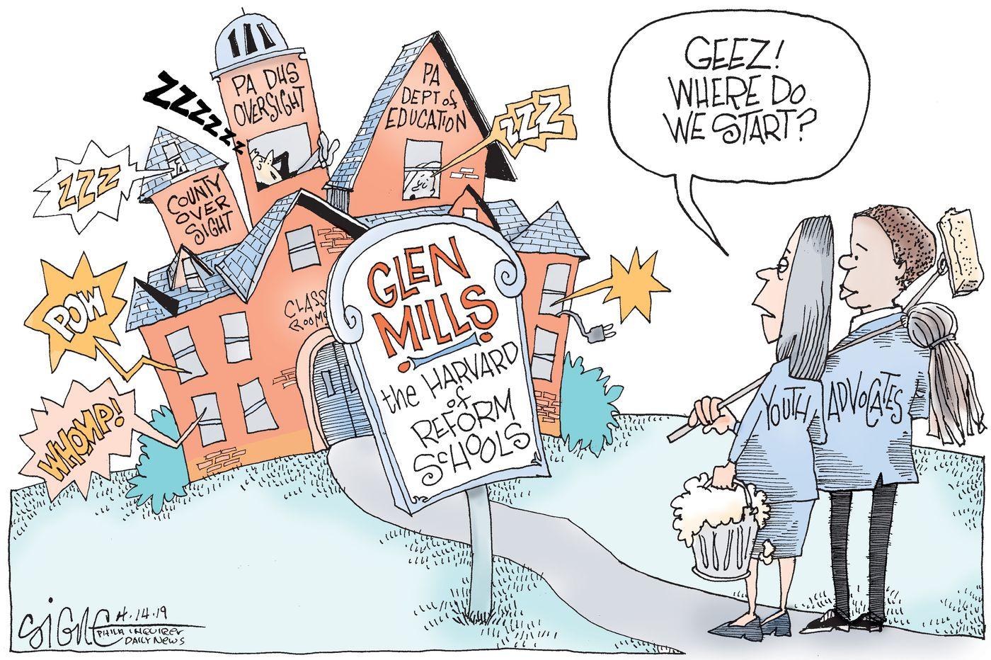 Political Cartoon: Glen Mills clean up