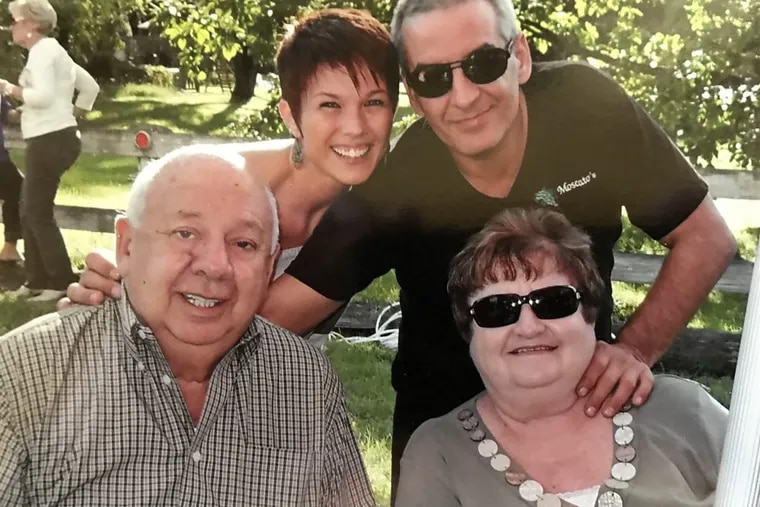 Richard Ferretti (top right) with his mother, Mary Lou Ferretti; his father, George Ferretti, and his girlfriend, Stacy Betts. Richard Ferretti was fatally shot by Philadelphia police while looking for a parking space on May 4, 2016.