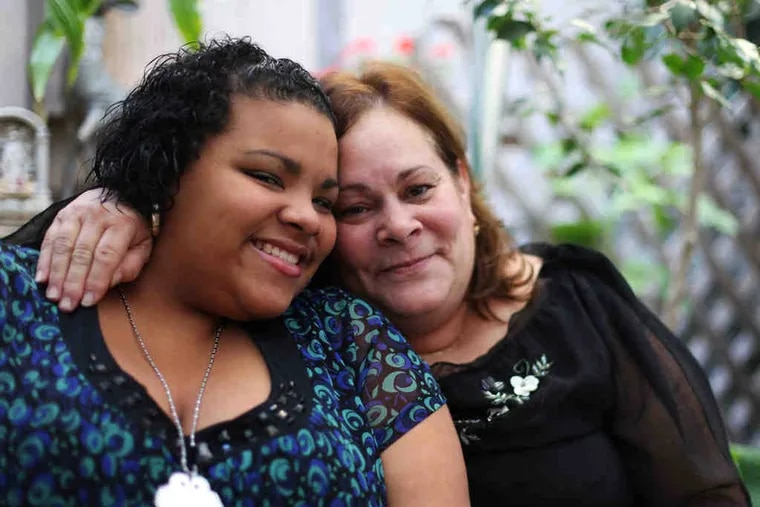 Jalesaa Figueroa, with grandmother Damaris Martinez, received more than $10,000 from readers eager to help with tuition and other costs so shecan graduate this spring from Little Flower Catholic High School for Girls.