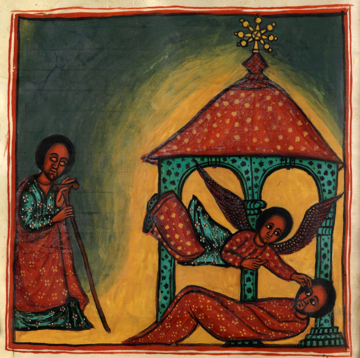 """This 1682 Ethiopian manuscript, """"The Homilies of Michael,"""" is also part of the Library Company of Philadelphia's exhibition """"""""From Negro Pasts to Afro-Futures: Black Creative Re-Imaginings."""""""