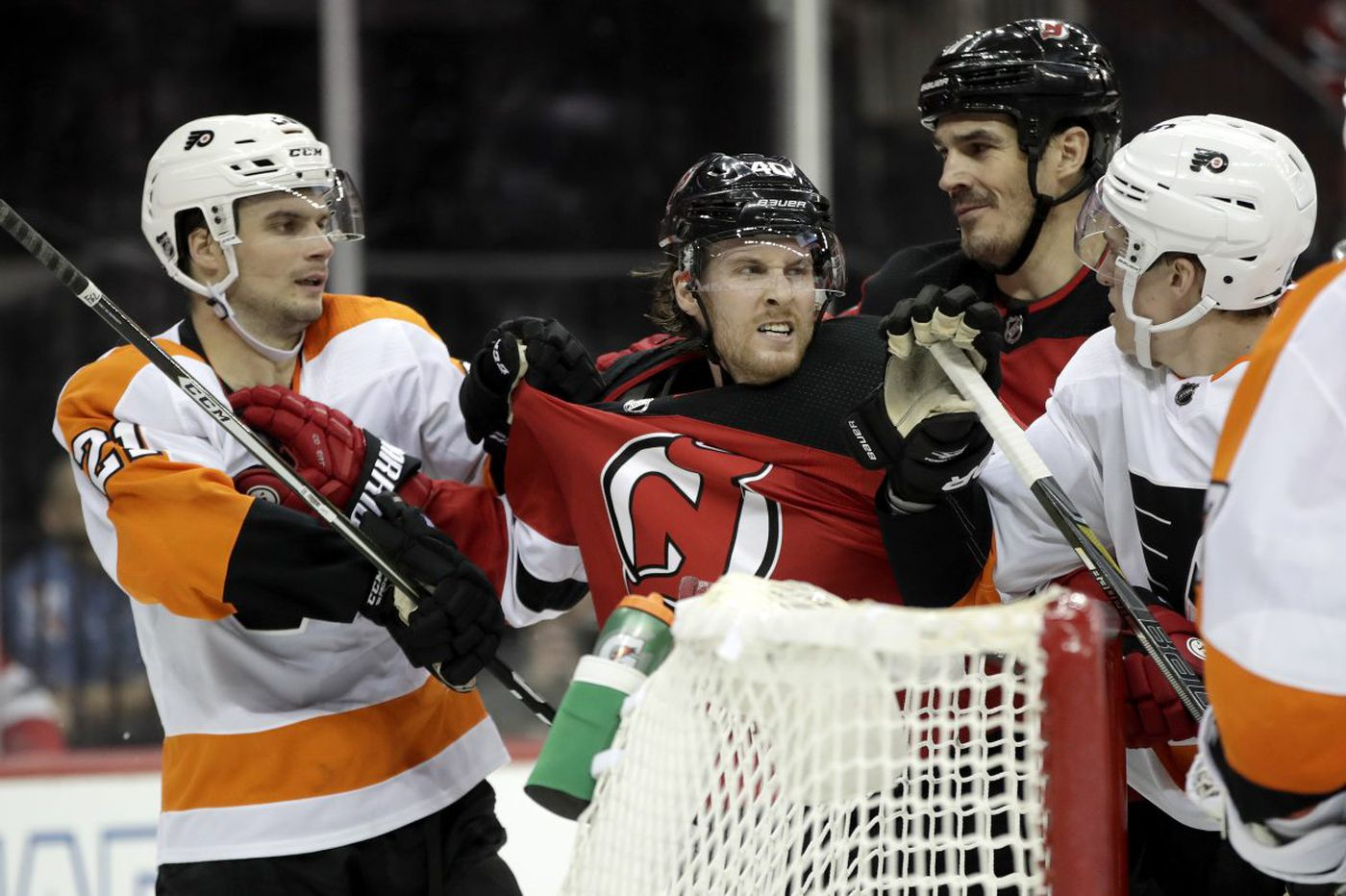 Sean Couturier nets two goals as Flyers top Devils, 5-3