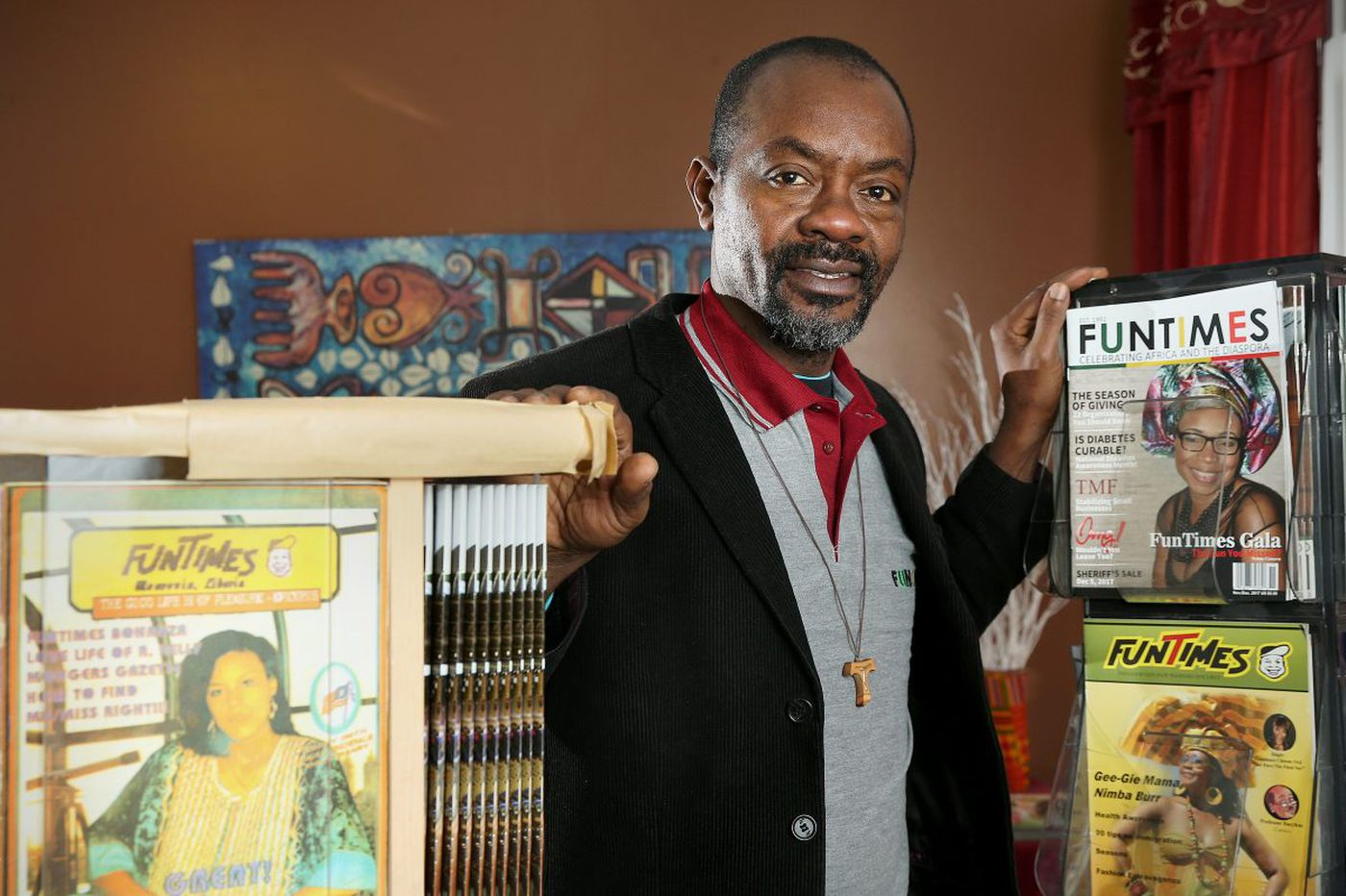 During the Liberian Civil War he started a humor magazine. Now 'FunTimes' comes from West Philly