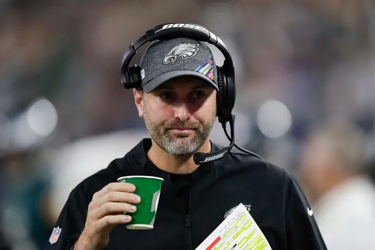 """Eagles offensive coordinator Mike Groh says the run game """"was certainly in our thoughts'' in Sunday's loss to the Dolphins."""