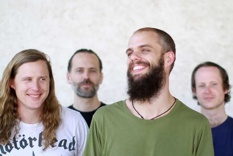 Metal band Baroness (from left) Peter Adams, Sabastian Thomson, John Baizley, and Nick Jost. Last year, the band was in a serious bus crash on tour in Bath, England. Two injured members left the band, but Baizley and Adams remained. The U.S. tour starts here, with a performance at Union Transfer Friday.
