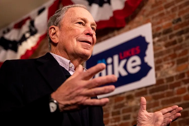 Former New York Mayor Michael Bloomberg's bid to win the Democratic presidential nomination brought him to Philadelphia, where he opened a campaign headquarters on Saturday.