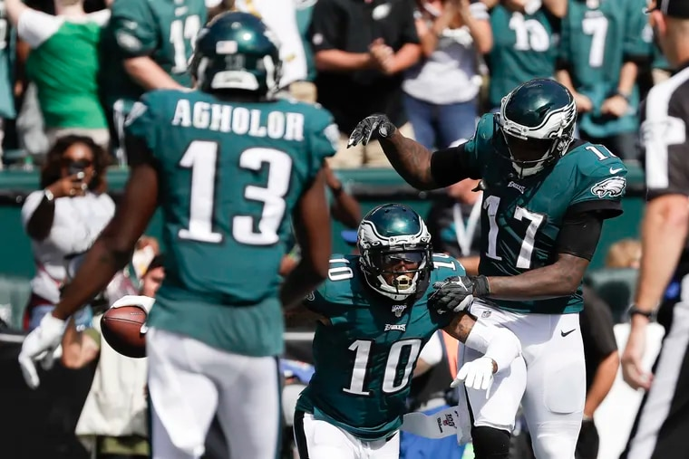 The Eagles' receiving talent on paper heading into the season never translated to the field.