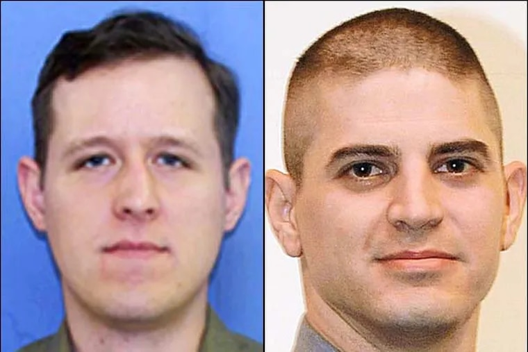 Police believe Erich Matthew Frein, (left) who they describe as a survivalist, is the person who shot and killed Cpl. Bryon Dickson.