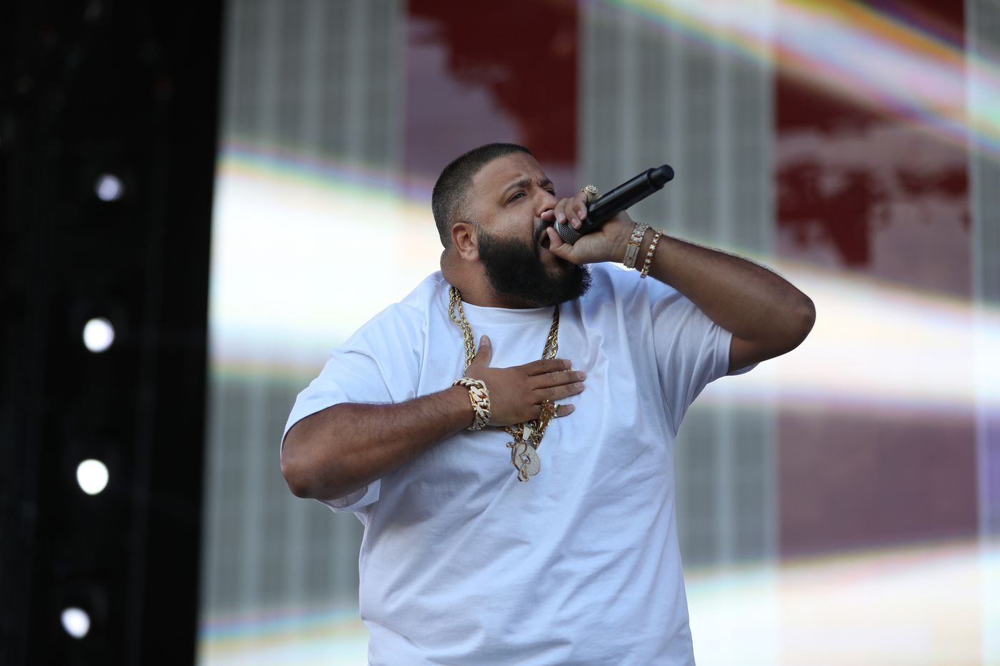 DJ Khaled stops at Max's Steaks, gets 'another one' at Geno's
