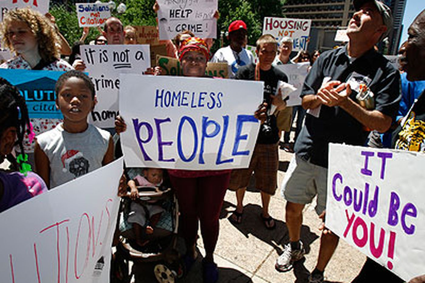 Protest blasts plan to crackdown on homeless