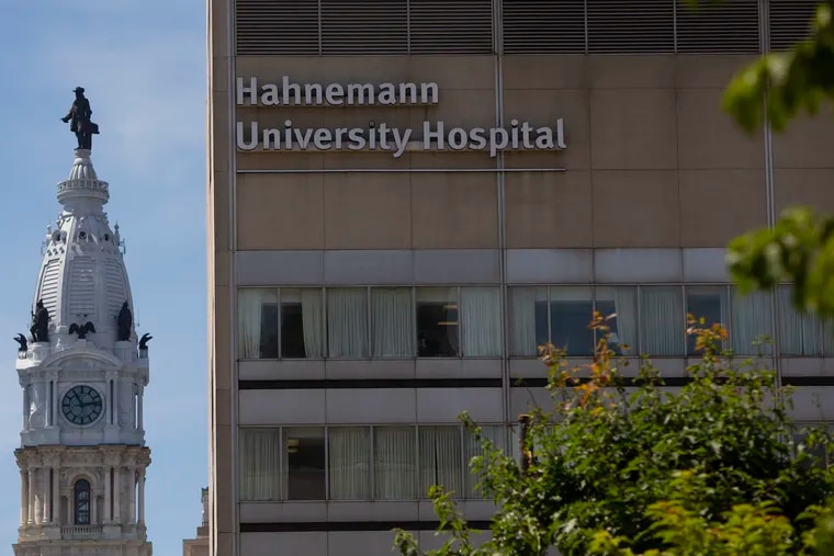Hahnemann University Hospital is photographed from Broad and Vine in Philadelphia on Thursday, June 27, 2019. Officials announced yesterday that Hahnemann University Hospital will close in early September and begin winding down its services immediately. Workers and supporters have a called on the state to help save the hospital from closure.