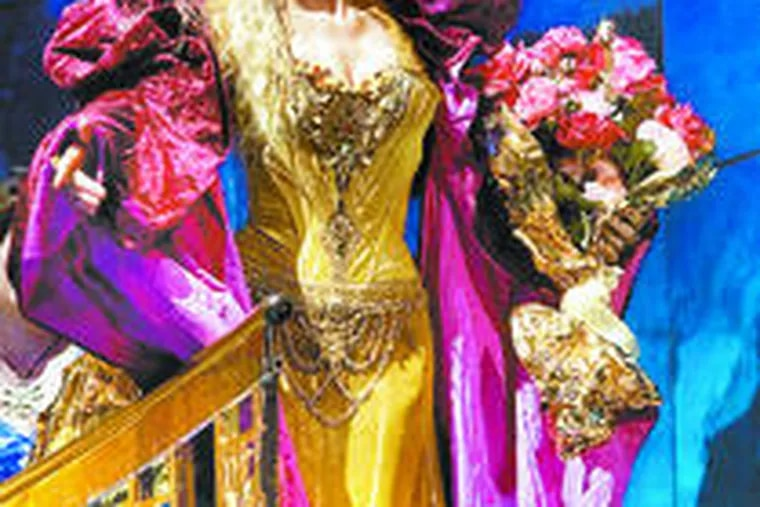 """Soprano Renee Fleming, clad in Christian Lacroix gowns, stars in the title role of Jules Massenet's """"Thaïs"""" at the Metropolitan Opera in New York."""