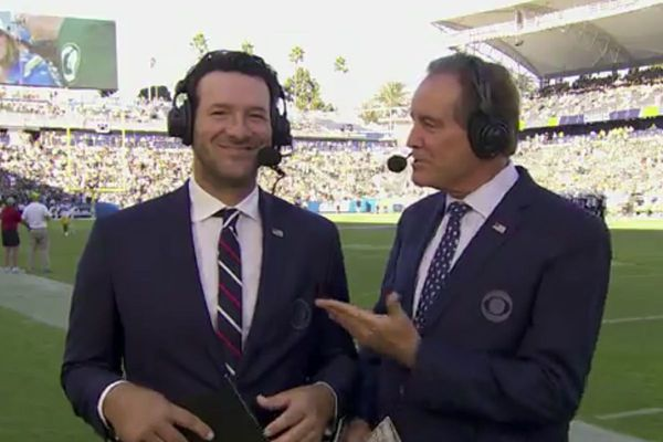 How CBS announcers Tony Romo and Jim Nantz pulled off an NFL first
