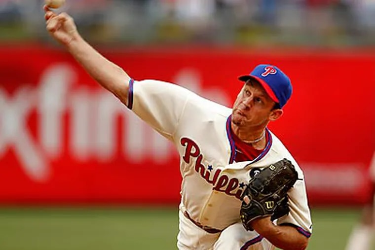 Roy Oswalt lost his first career game at Citizens Bank Park as the Phillies were shut out by the Rangers. (Ron Cortes/Staff Photographer)