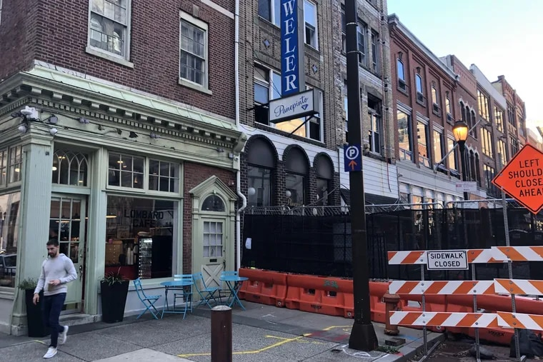 The owner of 700 Sansom Street, the oldest building on Jewelers Row and the only one listed on the Historic Register, is concerned about the impact of Toll Bros. construction.