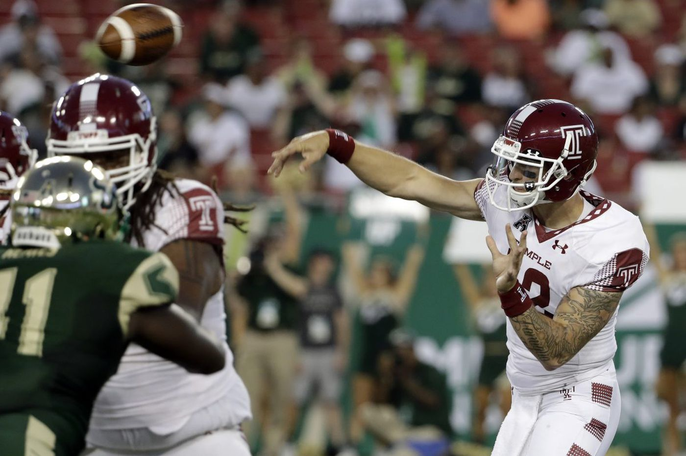 No. 21 USF overwhelms turnover-prone Temple