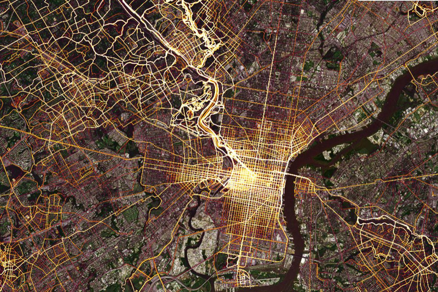 Where Philadelphians exercise, according to GPS app Strava