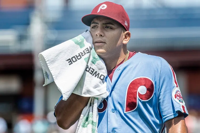 Phillies pitcher Ranger Suarez during his start against the Los Angeles Dodgers on Aug. 12.