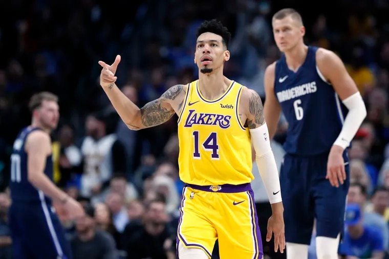 Danny Green, shown here with the Lakers in 2019, has looked good to Sixers coach Doc Rivers in practice.
