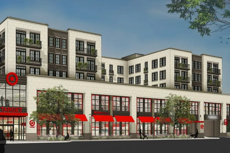 An artist rendering of the new mini-Target to open in Ardmore in July 2019 near the intersection of Lancaster Avenue and Ardmore Avenue.