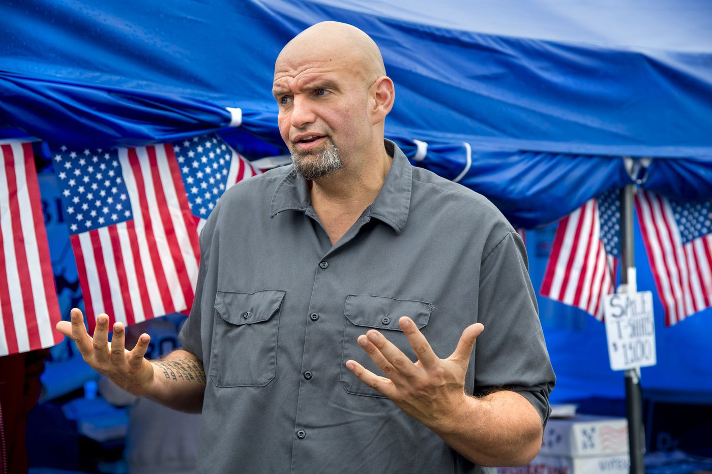 In Pennsylvania's Republican counties, John Fetterman is stirring Democratic interest