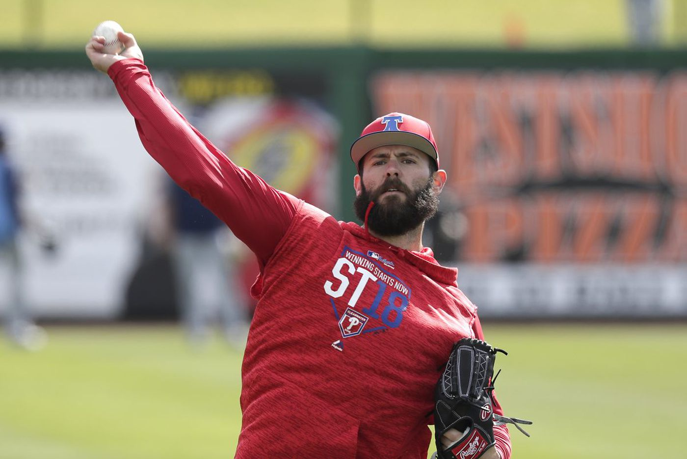 Phillies pitcher Jake Arrieta breaks two bats in simulated game