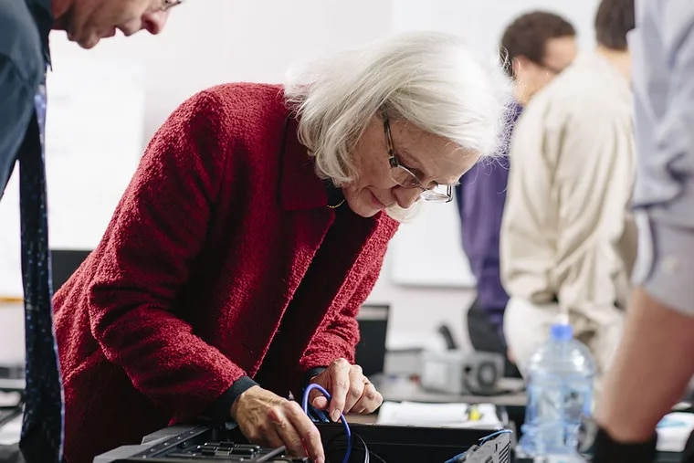 Sandra Pugh, a graduate of IT-Ready Omaha, at work. IT-Ready will offer an eight-week course in Philadelphia starting May 4. Registration is available through April 13.