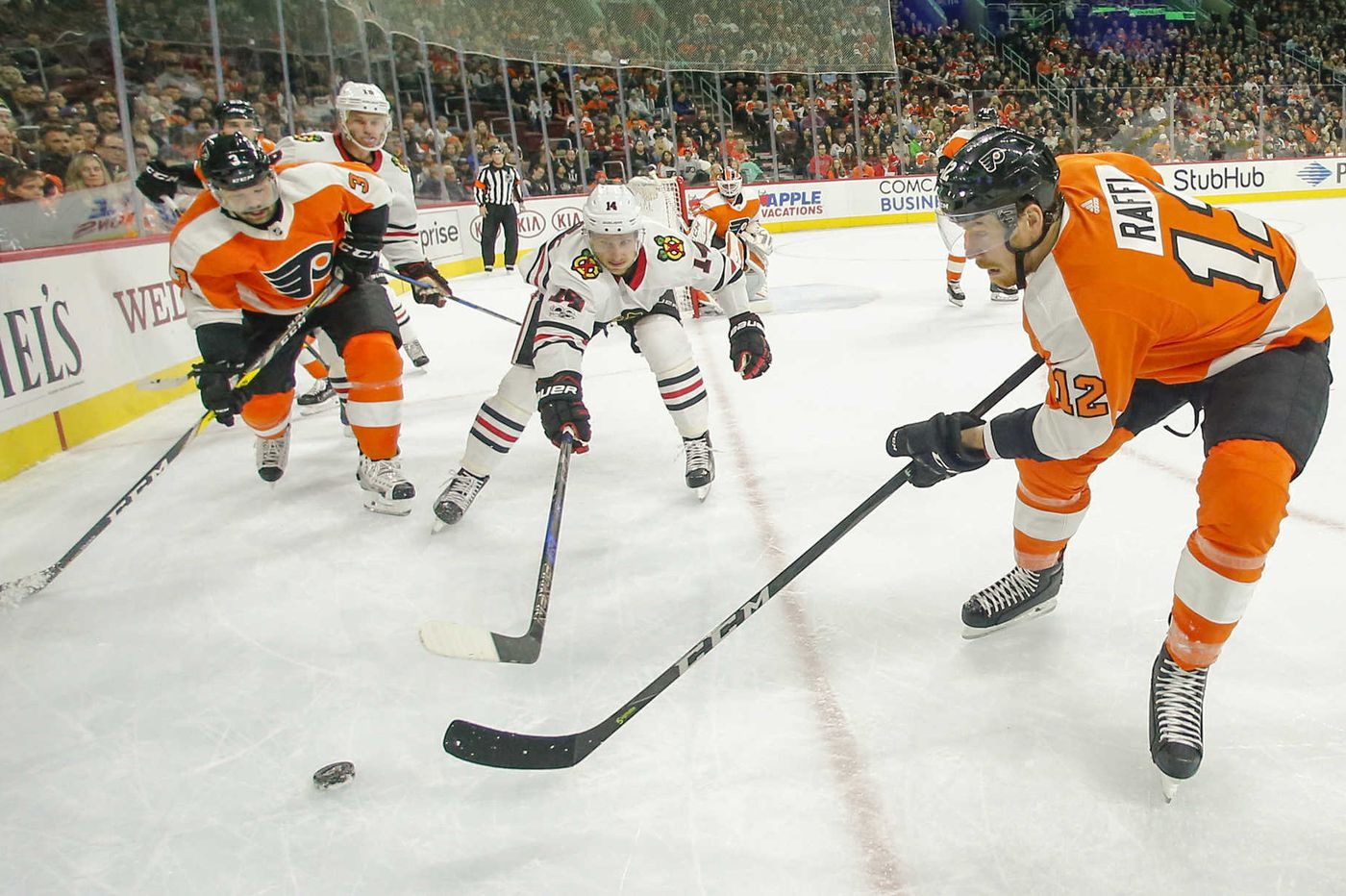 For Flyers' Michael Raffl, getting sick meant getting better