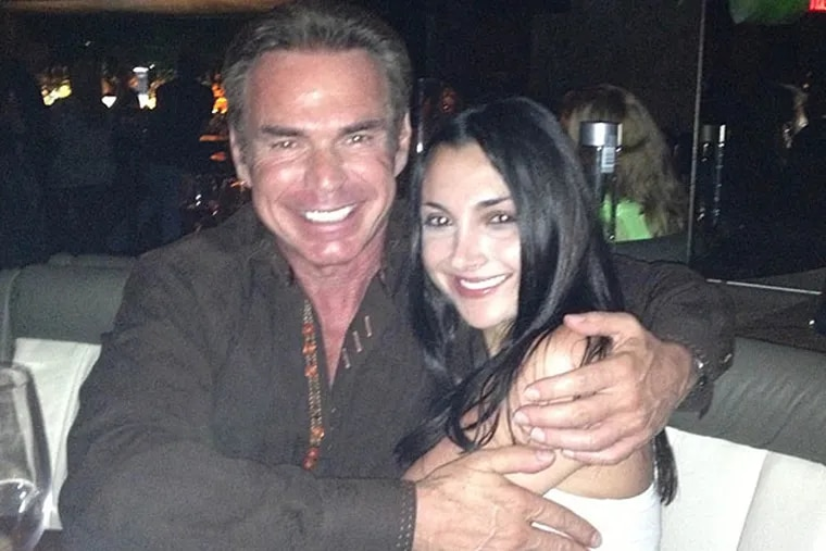 Charles Peruto, Jr., with his lover and colleague Julia Law.
