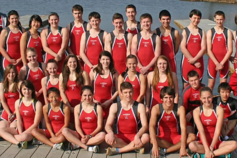 The Haddon Township crew team won eight gold medals and one silver medal at the 2012 Garden State Scholastic Rowing Championship. (Handout)
