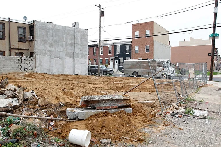 This vacant lot at 24th and Federal Streets in Point Breeze was the site of a building that was demolished in 2014.