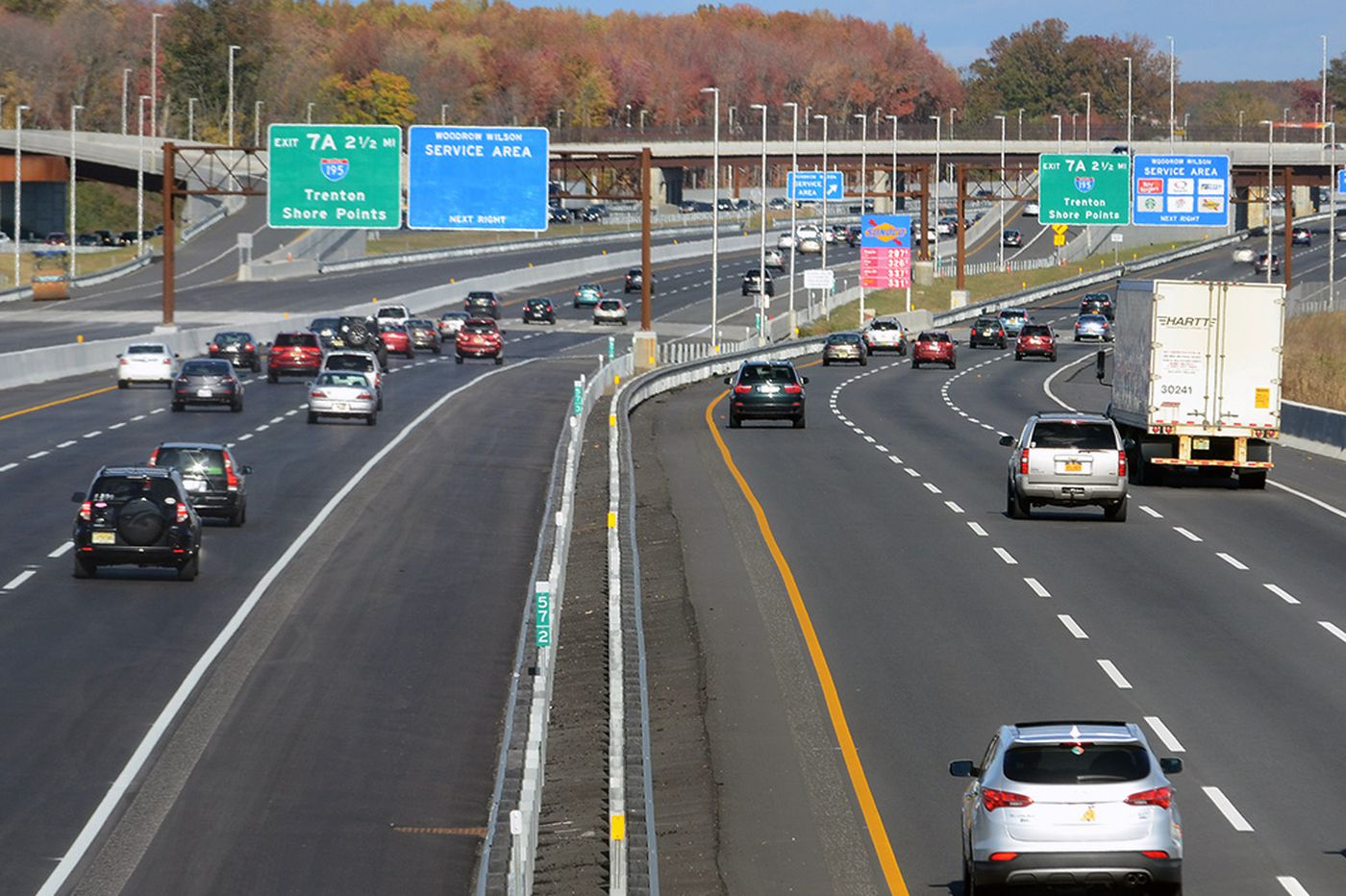 What a relief extra lanes on the N.J. Turnpike are