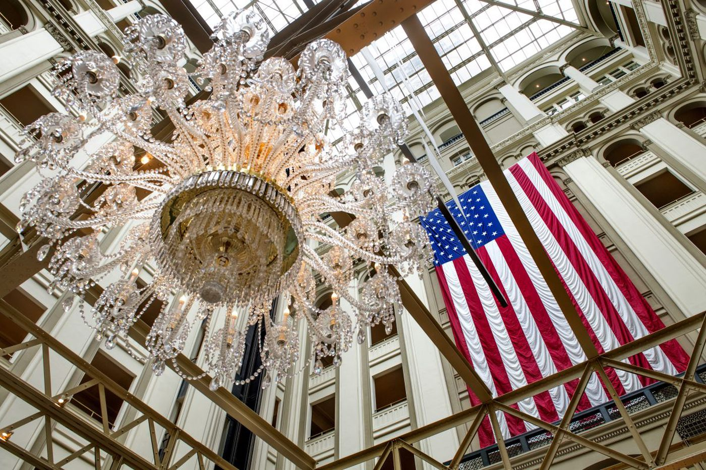 In troubled times, the president's D.C. hotel is a refuge for his fans