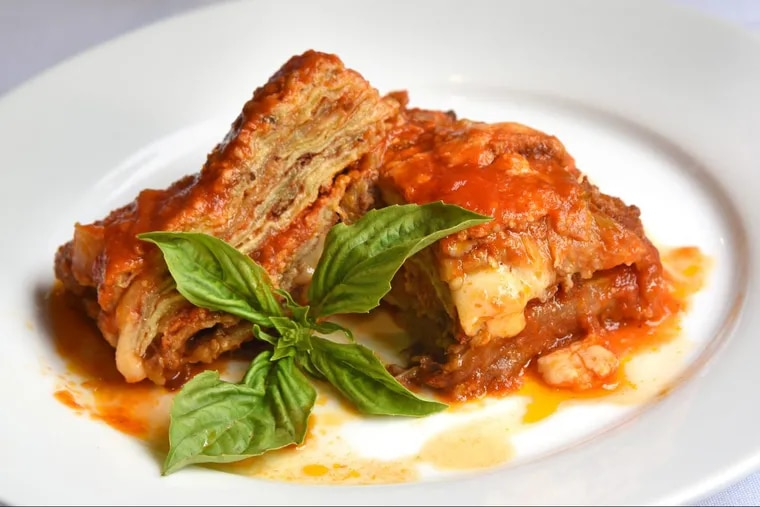 The baked eggplant Parmesan at Angelina's has a homey Neapolitan touch.