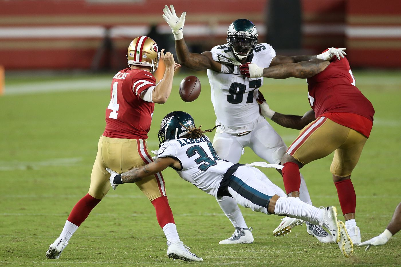 Eagles-49ers up-down drill: Unheralded players are Birds' heroes