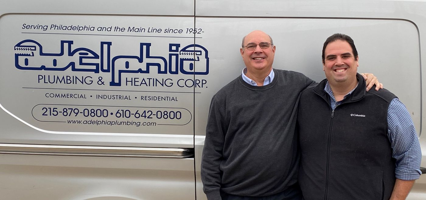 Ron Miller and his son Cliff Miller, owners of Adelphia Plumbing & Heating in Philadelphia.