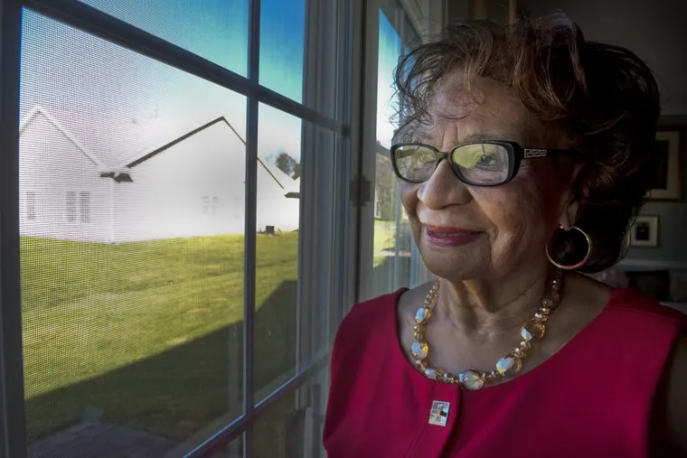 Riletta Cream at her Winslow Township home in 2016, the year she turned 90. The former Camden High principal and Camden County freeholder died Monday.