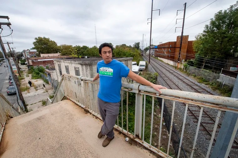 Will Tung, a community activist who moved to Cedar Park a decade ago, is concerned that the design of an affordable apartment building is being compromised by some neighbors' demands for parking. The area sits at the nexus of several trolley, bus and train lines, including SEPTA's Media-Elwyn line.