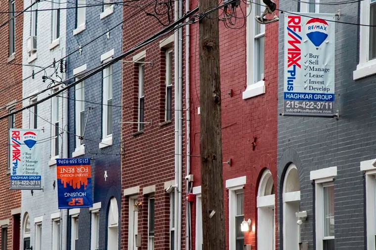 Homes for sale and rent in North Philadelphia in this May file photo. Landlords in the city listed their properties for sale at much higher rates in 2020 than they did the year before.