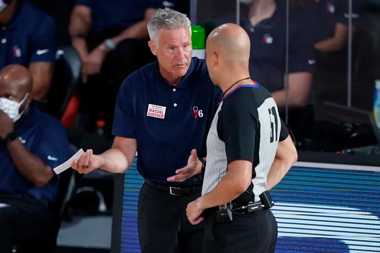Brett Brown coached the 76ers for seven seasons.