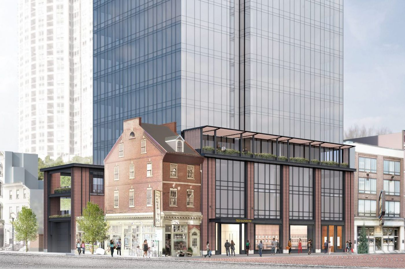 Toll Bros.'s shorter, glassier Jewelers Row tower proposal gets first public airing