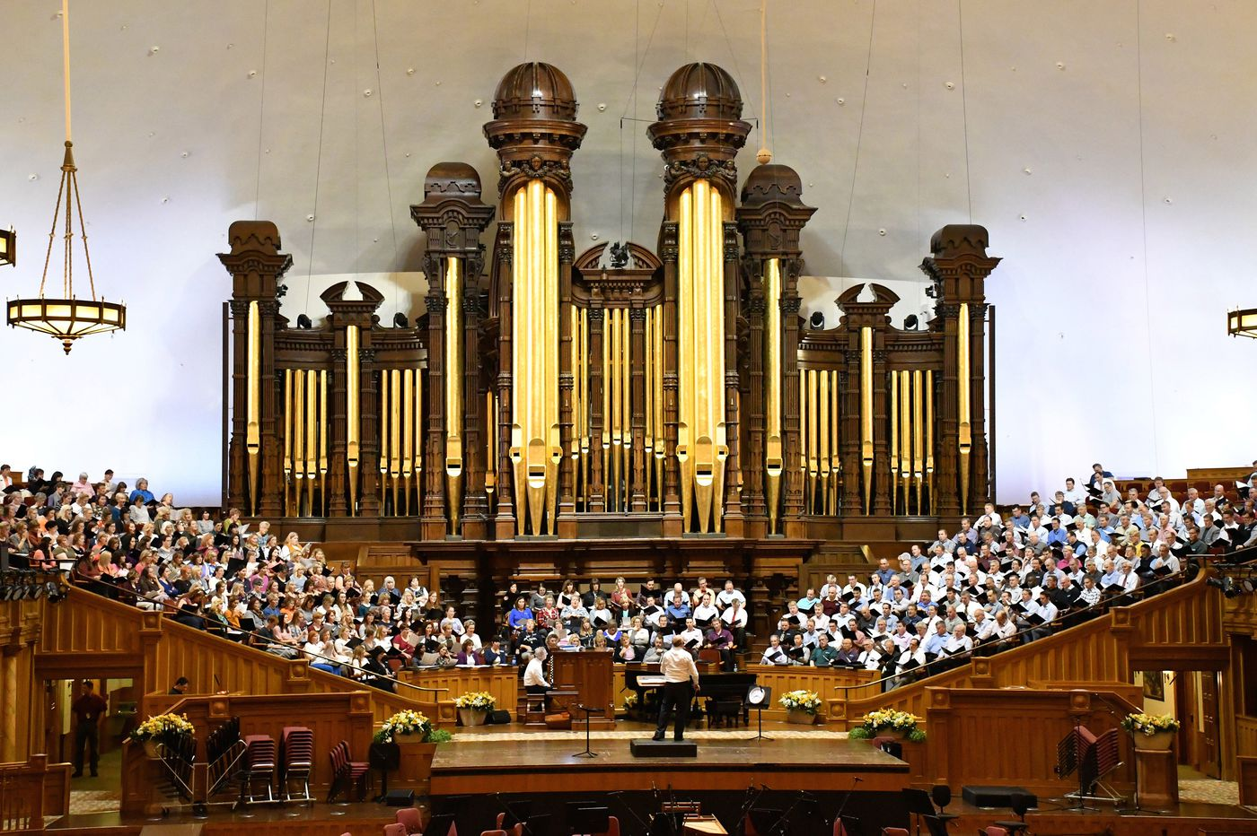 In the Salt Lake tabernacle Brigham Young built, 360 voices blend with frontier history