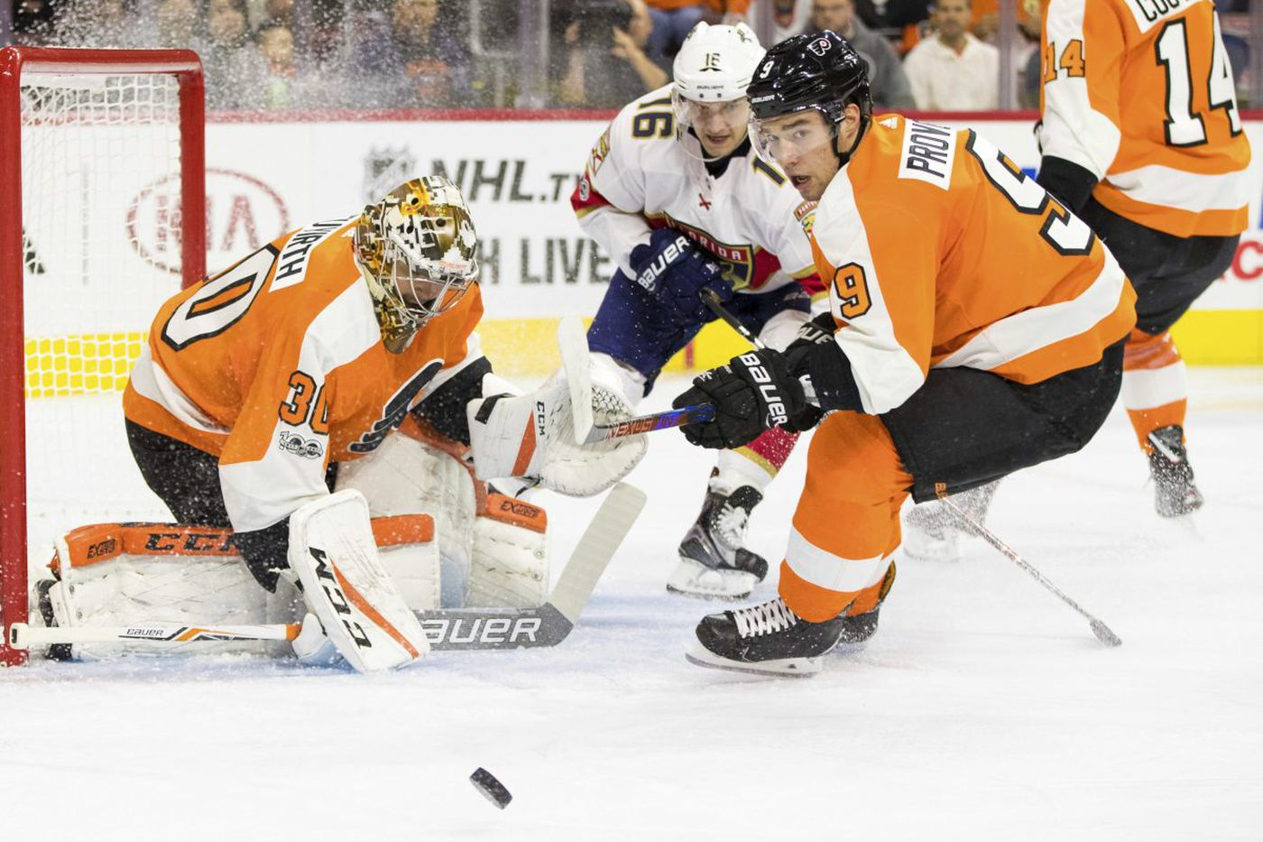 Flyers' young defensemen not acting their age