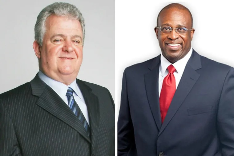 Lawyers for senior Municipal Court Judge Jimmie Moore (right) and U.S. Rep Bob Brady (left) have denied that their clients did anything wrong.