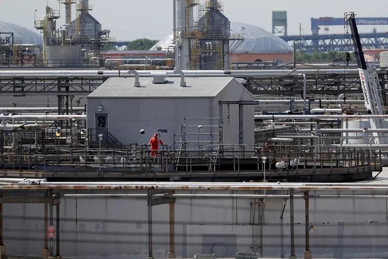 A view of Philadelphia Energy Solutions on June 26, 2019 in Philadelphia, PA.